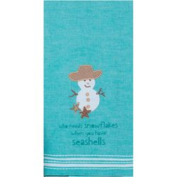 Kay Dee Designs Snowflake Shells Tea Towel