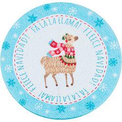 Kay Dee Designs Fa La La Llama Braided Round Placemat