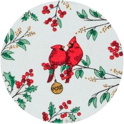 Kay Dee Designs Cardinal Braided Round Placemat
