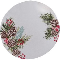 Kay Dee Designs Winter Wonderland Braided Round Placemat