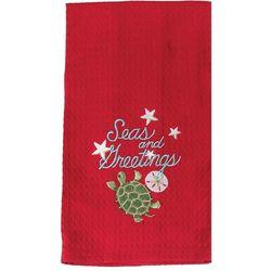 Kay Dee Designs Seas & Greetings Waffle Towel