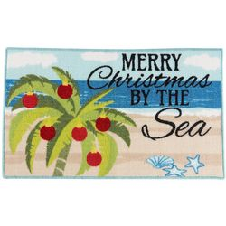 Brighten the Season Merry Christmas By The Sea Accent Rug