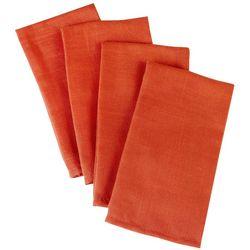 Laura Ashley 4-pc. Sienna Spice Cloth Napkin Set