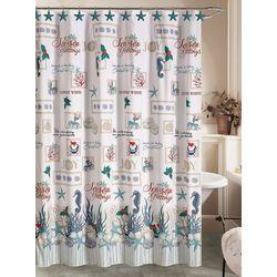 Brighten the Season Oceanholic Christmas Shower Curtain