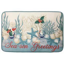 Brighten the Season Oceanholic Christmas Bath Mat