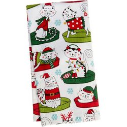 Ritz Holiday Cat Nap Kitchen Towel