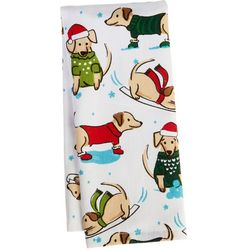 Ritz Snow Dogs Kitchen Towel