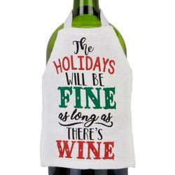 Ritz Holidays Will Be Fine Wine Bottle Apron
