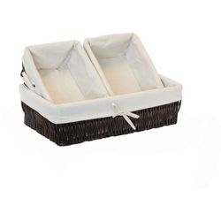 Baum 3-pc. Vertical Willow Lined Storage Baskets