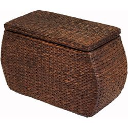 Baum Rectangular Bulge Havana Lined Storage Ottoman