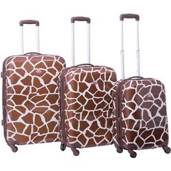 American Flyer Giraffe 3-pc. Hardside Spinner Luggage Set