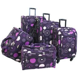 American Flyer 5-pc. Fireworks Spinner Luggage Set