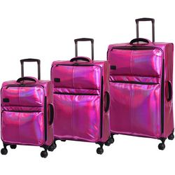 it Girl 3-pc. Spellbound Holographic Expandable Luggage Set