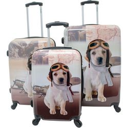 Chariot 3-pc. Aviator Dog Hardside Luggage Set