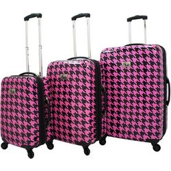 Chariot 3-pc. Houndstooth Hardside Luggage Set