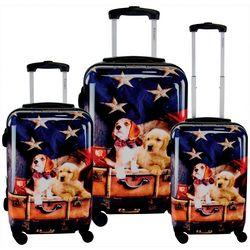3-pc. Freedom Pups Hardside Luggage Set