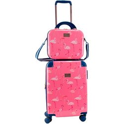 Chariot 2-pc. Park Avenue Flamingo Luggage & Beauty