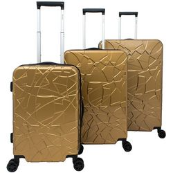 Chariot 3-pc. Crystal Hardside Luggage Set