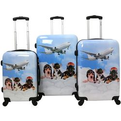 Chariot 3-pc. Puppy Pilots Hardside Luggage Set