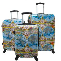 Chariot 3-pc. One World Color Hardside Luggage Set