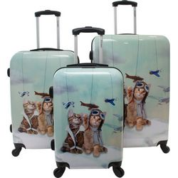 Chariot 3-pc. Aviator Cats Hardside Luggage Set