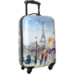 Wembley 20'' Live It Up Paris Couple Spinner Luggage