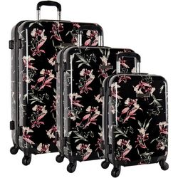 Vince Camuto Maybel 3-pc Black Lillies Luggage Set