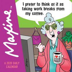 TF Publishing 2020 Maxine Daily Desktop Calendar