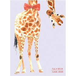 TF Publishing 2019-2020 Fancy Giraffe Monthly Planner