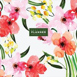 TF Publishing 2019-2020 Watercolor Floral Monthly Planner