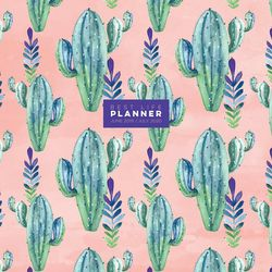 TF Publishing 2019-2020 Prickly Pink Cactus Monthly Planner