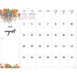 TF Publishing 2019-2020 Floral Script Desk Pad Calendar