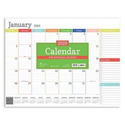 TF Publishing 2020 Rainbow Blocks Desk Pad Calendar