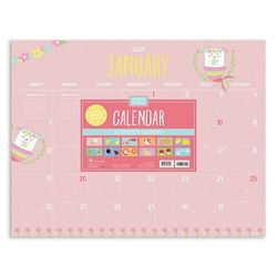TF Publishing 2020 Monthly Theme Desk Pad Calendar