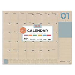 TF Publishing 2020 Kraft Numeric Desk Pad Calendar