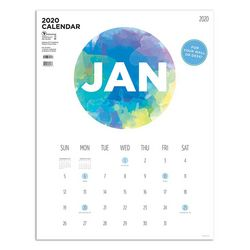 TF Publishing 2020 Paint Circle Art Poster Calendar