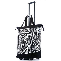 Olympia Fashion Zebra Rolling Shopping Tote