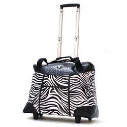 Olympia Deluxe Fashion Zebra Rolling Tote