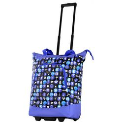 Olympia Luggage Lifesaver Rolling Shopper Tote