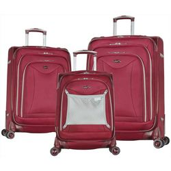 Olympia Luggage Luxe II 3-pc. Luggage Set