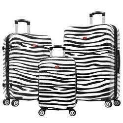 Olympia Luggage Metropolitan Zebra 3-pc. Luggage Set