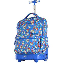 Olympia Luggage Melody Blossoms Rolling Backpack
