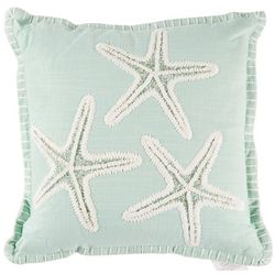 Debage Embroidered 3 Starfish Decorative Pillow