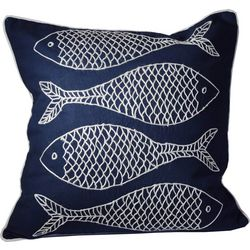 Debage Embroidered Fishes Decorative Pillow