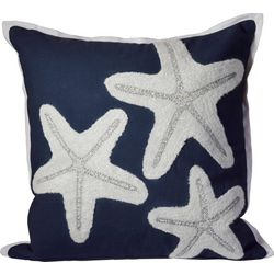 Debage Embroidered Triple Starfish Decorative Pillow