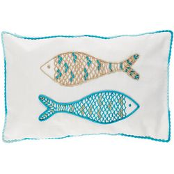 Coastal Home Fish Friends Decorative Pillow