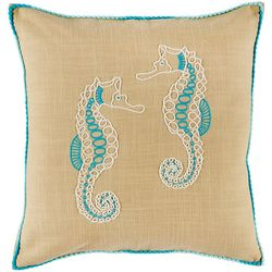 Coastal Home Seahorse Friends Decorative Pillow