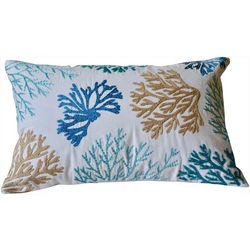 Coastal Home Coral Reef Decorative Pillow
