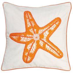 Debage Beaded Starfish Decorative Pillow