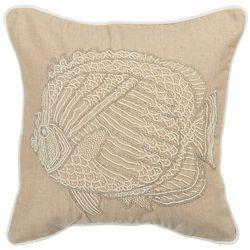 Debage Beaded Fish Decorative Pillow